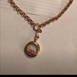 Origami owl rose gold